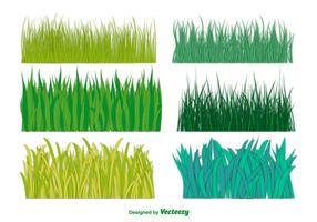 Big Green Grass Vector Collection