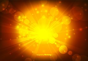 Warm Gold Bokeh Style Background Vector