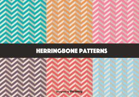 Vector Set Of Retro Herringbone Pattern
