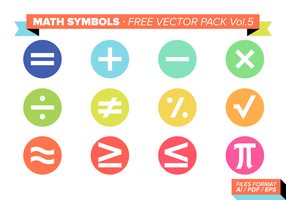 Math Symbols Free Vector Pack Vol. 5