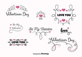 Valentines Day Vector Labels