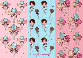 Cake Pops Patterns Vector