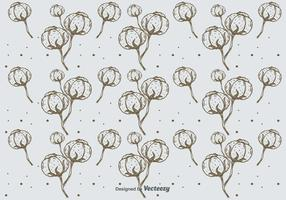Hand Drawn Cotton Pattern Background