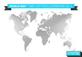 World Map Free Vector Illustration Vol. 2