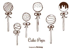 Hand Drawn Cake Pops Vectors
