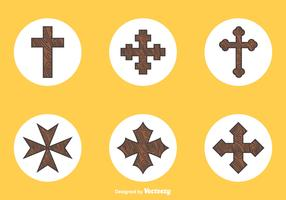 Free Wooden Crosses Vector