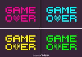 Free Pixel Game Over Vector