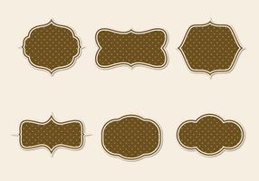 Free Vintage Paper Badges Vector