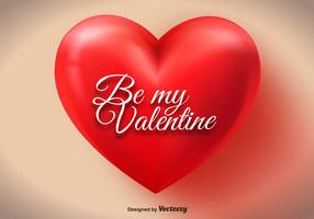 Big Red Valentine Heart Vector