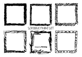 Hand Drawn Messy Scrible Vector Frames