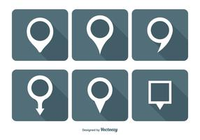 Map Pin Vector Icon Set