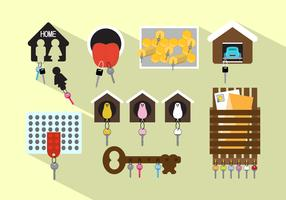 Vector Set of Different Keyholders