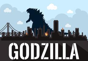 Vector Illustration of Godzilla