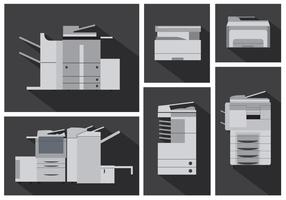 Vector Set of Photocopier Machines
