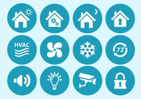 Home Automation and Security Interface Icons