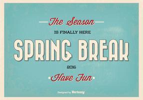 Retro Spring Break Typographic Vector Illustration