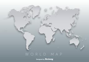 World Map 3D Silhouette Vector