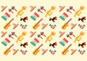 Free Watercolor Mexican Elements Vector Pattern