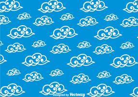 Blue Chinese Clouds Pattern