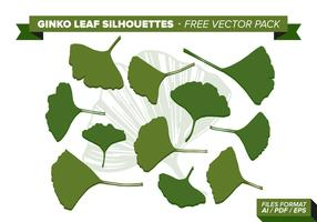 Pacote de vetores livre de folha de ginko