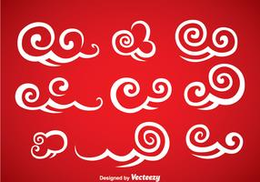 Decorative Chinese Clouds Vector Set