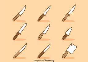 Cartoon Knife Sets Vector