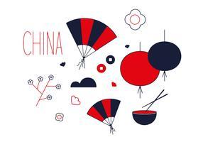 Free China Town Vector