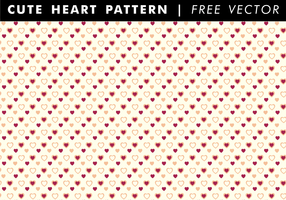Cute Heart Pattern Free Vector