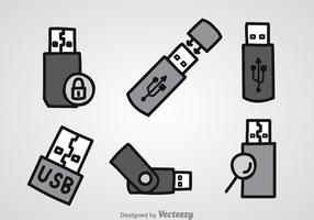 Pen Drive Icons Sets