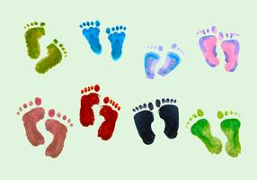 Free Vector Paint Baby Footprints