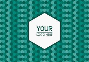 Free Emerald Geometric Logo Background