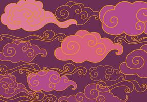 Free Oriental Purple Ornament Vector