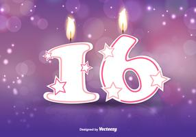 Sweet Sixteen Vector Background