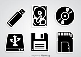 Digital Storage Black Icons