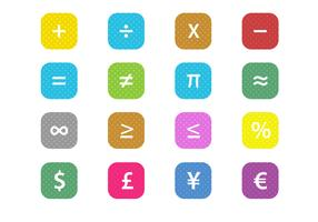 Free Math Financial Symbols Vector