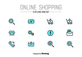 Online Shop UI Vektor Icons