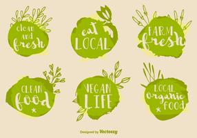 Healthy Food Vector Signs