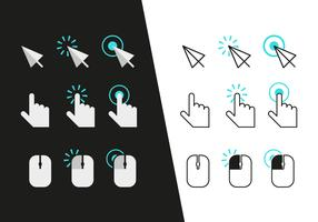 Mouse Click Icons Vector