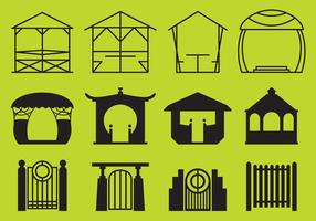 Park Gazebo and Structures Vectors