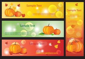 Pumpkin Banner Vectors