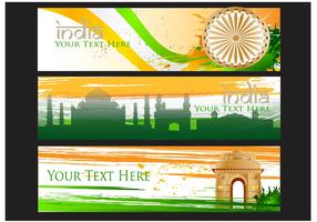 India Gate Vector Banner Background
