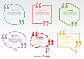 Minimal Quotation Marks Vector Labels