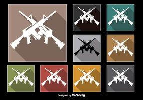 Crossed AR15 Rifle Vectors