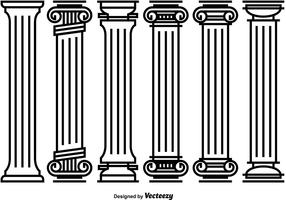 Decorative Roman Pillar Vectors