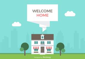 Free Welcome Home Vector Illustration