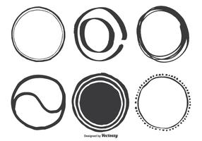 Hand Drawn Assorted Circle Vector Shapes
