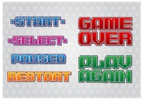 Retro Game Menu