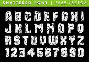 Shattered Font Free Vector