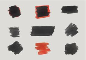 Free Black and Red Vector Brush Shapes