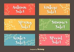 Seasonal Colourful Labels